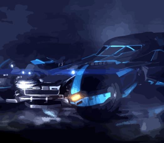 Batmobile in Rocket League