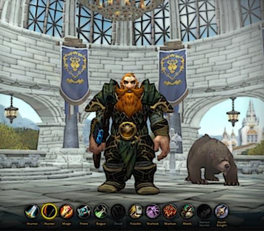 Fresh WoW character customization screen