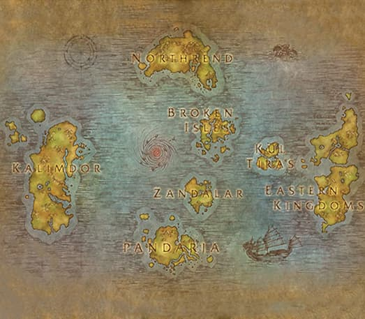 Where to search for WoW realms?