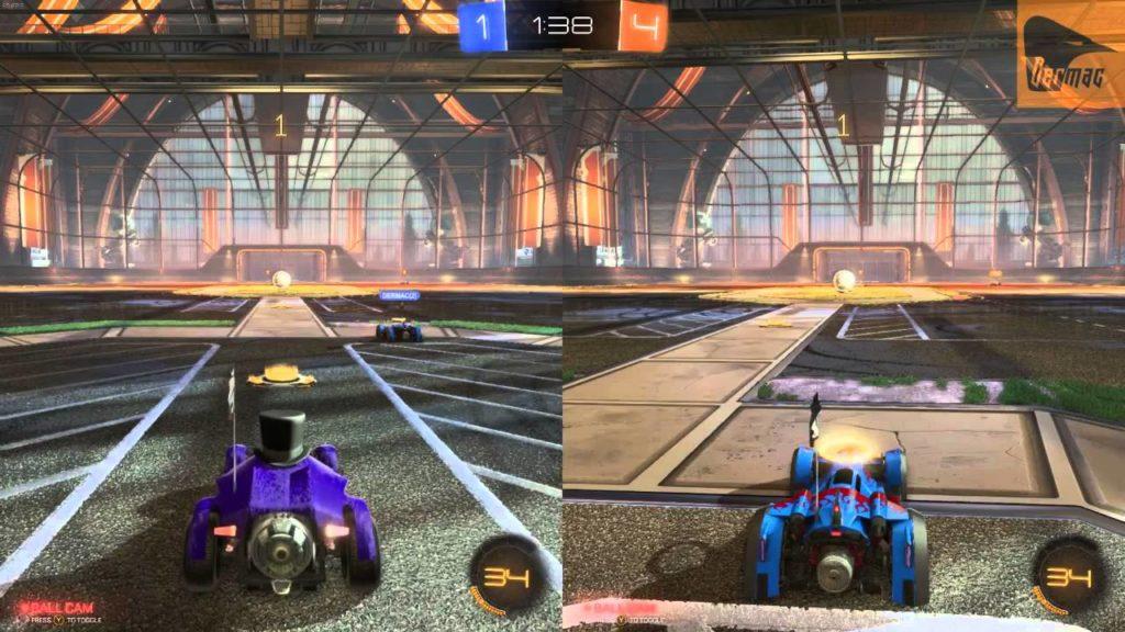 rocket league split screen