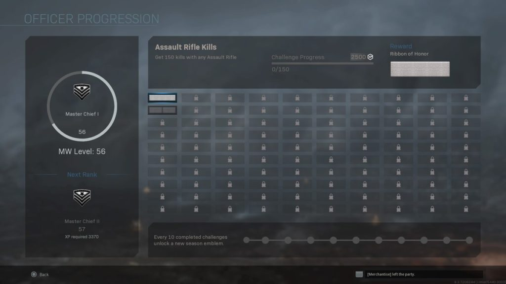 cod mw ranks